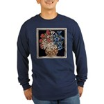 Edelweiss Bouquet Men's Long Sleeve Navy T-Shirt