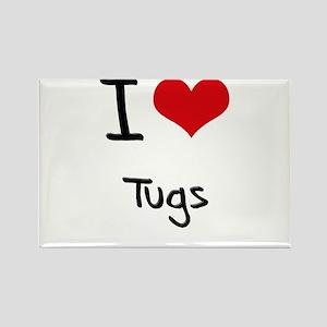 I love Tugs Rectangle Magnet