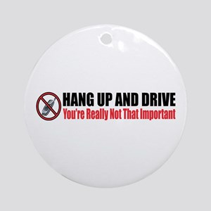 Hang Up and Drive Ornament (Round)