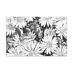 Flowers & Honey Bee Sketch Mini Poster Print