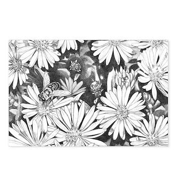 Flowers & Honey Bee Sketch Postcards (Package of 8