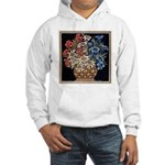 Edelweiss Bouquet Hooded White Sweatshirt