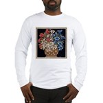 Edelweiss Bouquet Men's Long Sleeve White T-Shirt