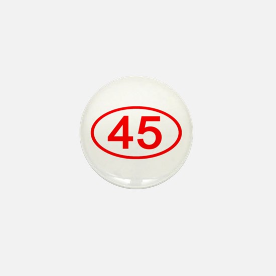 Number 45 Oval Mini Button