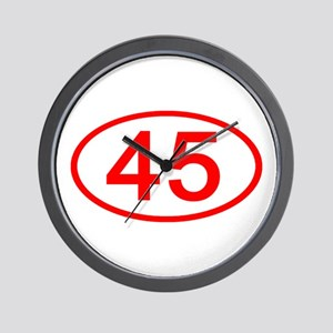 Number 45 Oval Wall Clock