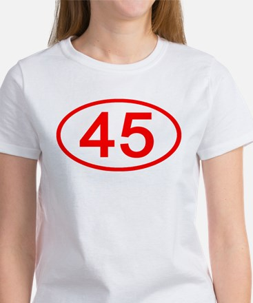 Number 45 Oval Women's T-Shirt