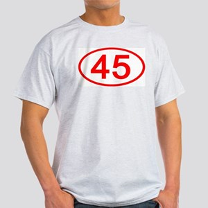 Number 45 Oval Ash Grey T-Shirt