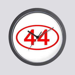 Number 44 Oval Wall Clock
