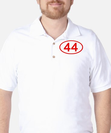 Number 44 Oval Golf Shirt