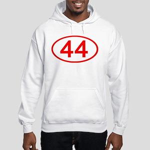 Number 44 Oval Hooded Sweatshirt