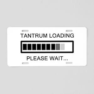 Tantrum Loading Please Wait Aluminum License Plate