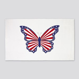 Patriotic Butterfly 3'x5' Area Rug