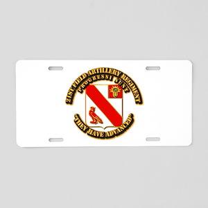 Army - 21 FA Regt Aluminum License Plate