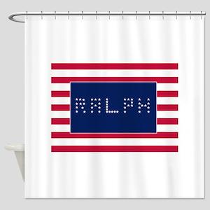Ralph Lauren American Flag Shower Curtains
