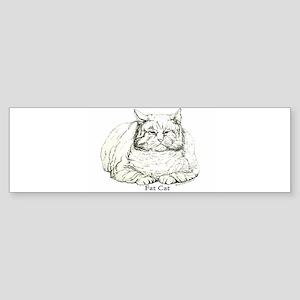 Fat Cat Bumper Sticker