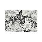 Flowers & Honey Bee Sketch Rectangle Magnet