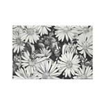 Flowers & Honey Bee Sketch Rectangle Magnet