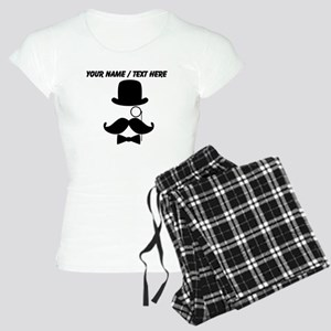 Personalized Mustache Face With Monocle Pajamas