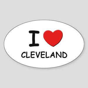 I love Cleveland Oval Sticker