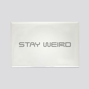 stay-weird-saved-gray Rectangle Magnet