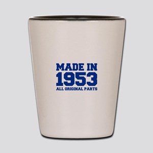 made-in-1953-fresh-blue Shot Glass