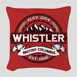 Whistler Red Woven Throw Pillow