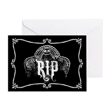 Halloween Tombstone RIP Greeting Card
