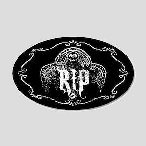 Halloween Tombstone RIP 20x12 Oval Wall Decal