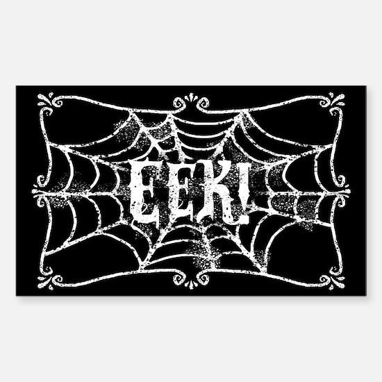 Halloween Cobweb Eek Sticker (Rectangle)