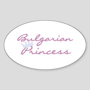 Bulgarian Princess Oval Sticker
