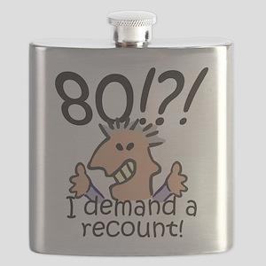 Recount 80th Birthday Flask
