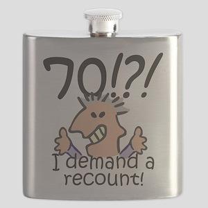 Recount 70th Birthday Flask
