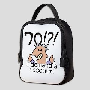 Recount 70th Birthday Neoprene Lunch Bag