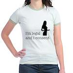 I Consent Jr. Ringer T-Shirt