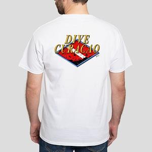 Dive Curacao (BK) White T-Shirt
