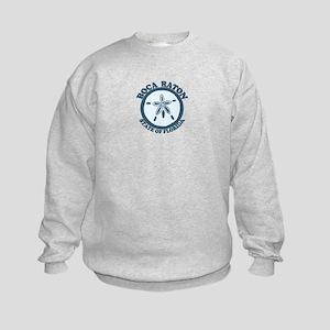 Boca Raton - Seashells Design. Kids Sweatshirt