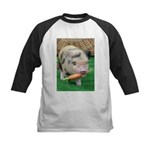Micro pig with carrot Baseball Jersey