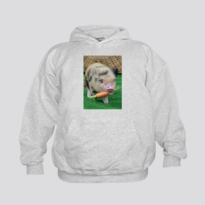 Micro pig with carrot Hoody