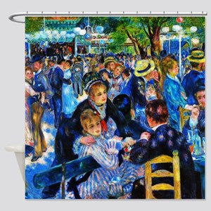 Renoir: Dance at Moulin d.l. Galette Shower Curtai