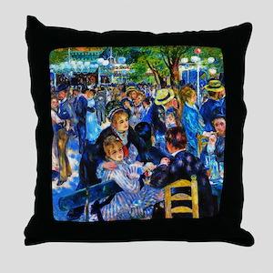 Renoir: Dance at Moulin d.l. Galette Throw Pillow