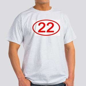 Number 22 Oval Ash Grey T-Shirt