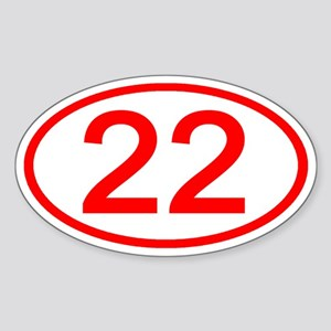 Number 22 Oval Oval Sticker