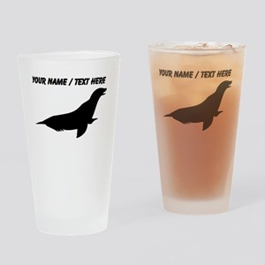 Personalized Black Seal Silhouette Drinking Glass