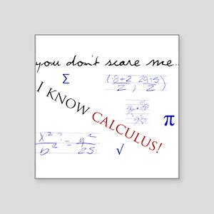 "Calculus Square Sticker 3"" x 3"""