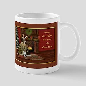 Christmas Card, Vintage Home, Holiday Toast Mug