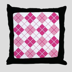 Pink Argyle Throw Pillow