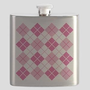Pink Argyle Flask