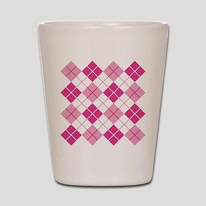 Pink Argyle Shot Glass