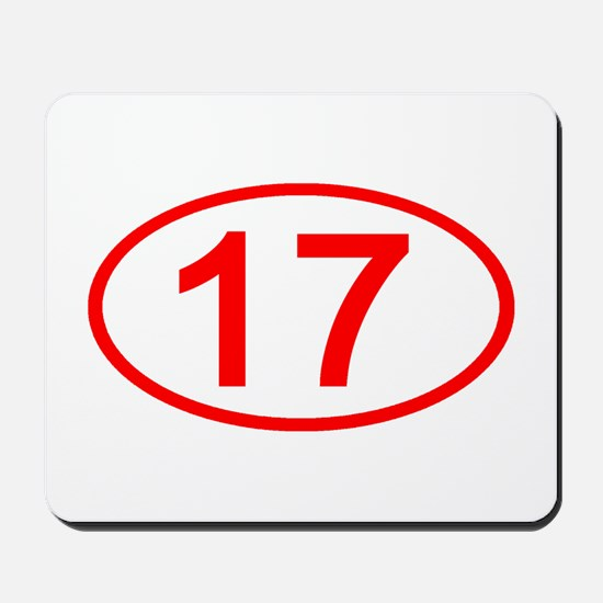 Number 17 Oval Mousepad