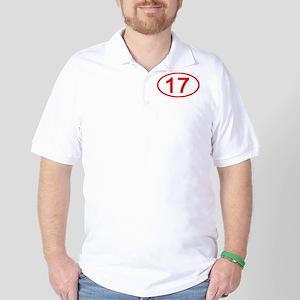 Number 17 Oval Golf Shirt